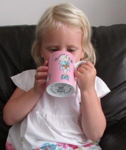 Melissa drinking herbal sleep tea